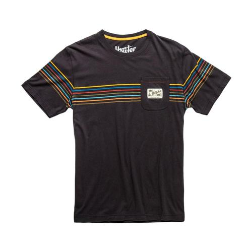 Howler Bros. Men's Grey w/ Hemisphere Stripe Pocket T-Shirt