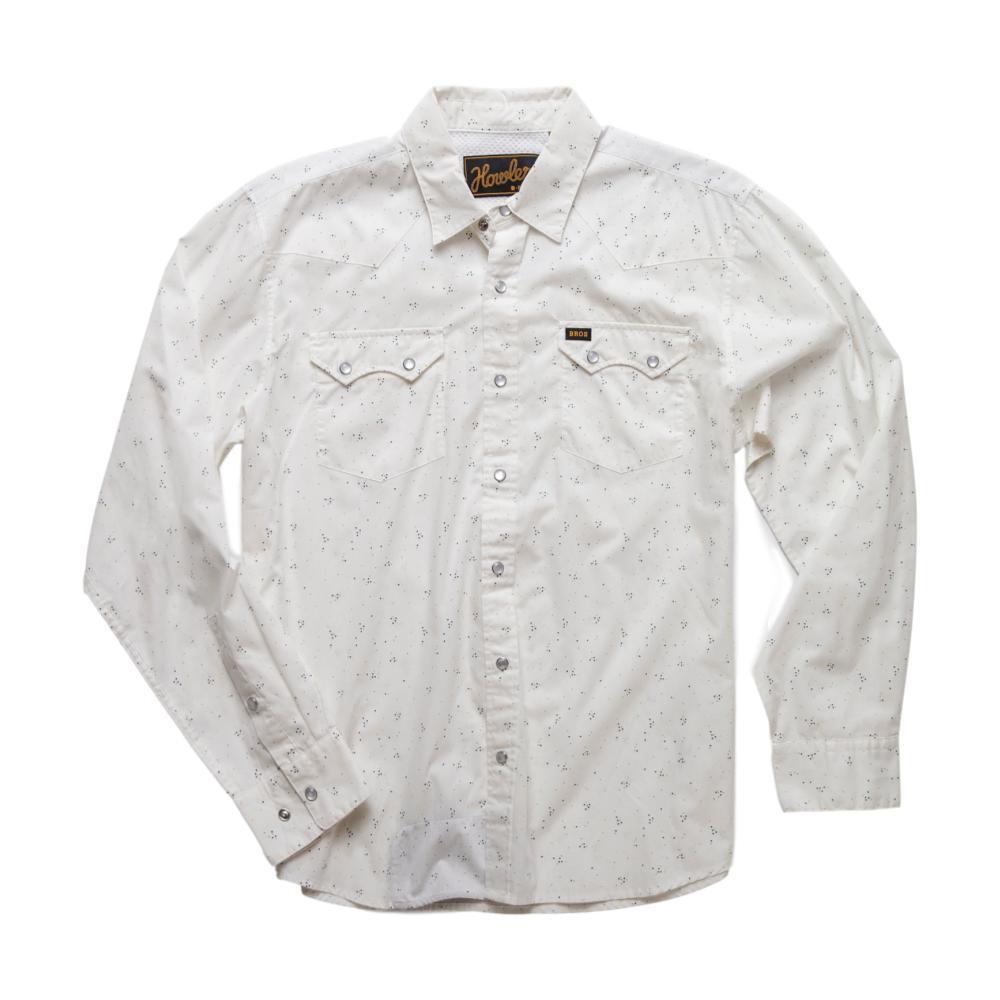 Howler Brothers Men's Crosscut Longsleeve Snapshirt WHITE