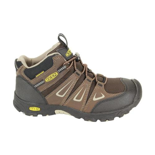 KEEN Big Kids Oakridge Waterproof Shoes Brn_brindle