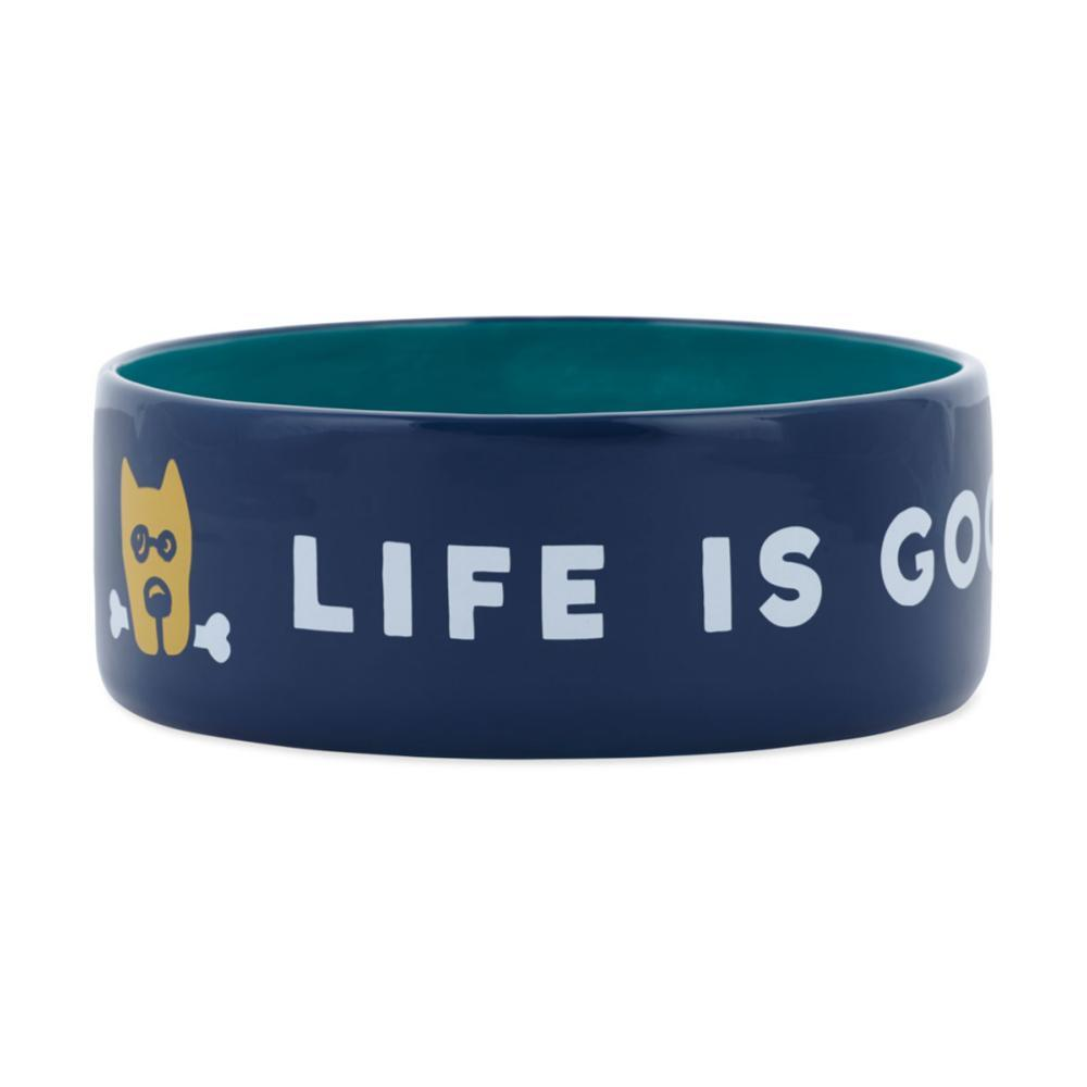 Life Is Good 13oz Ceramic Daisy Dog Bowl