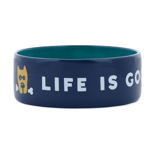 Life Is Good 13oz Ceramic Daisy Dog Bowl Dst_blu