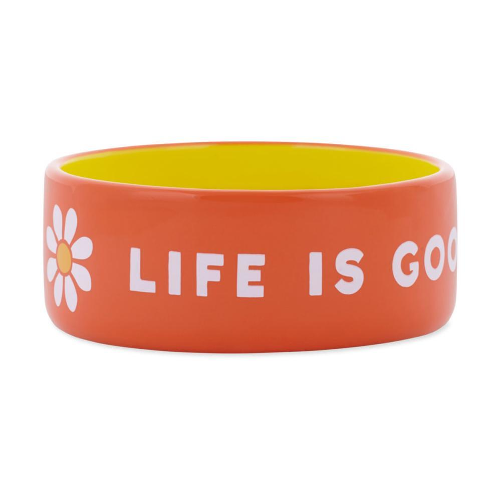 Life Is Good 13oz Ceramic Daisy Dog Bowl - Small TRP_ORG