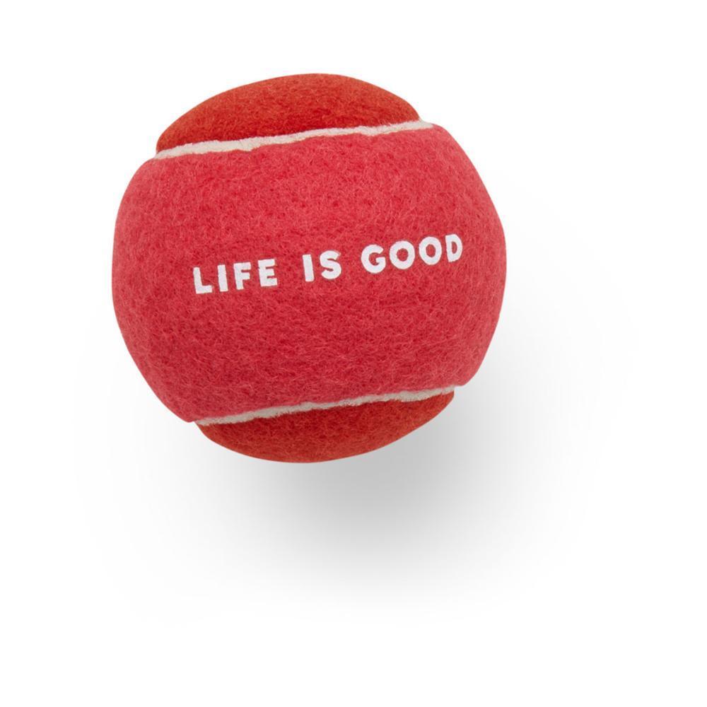 Life is Good Dog Tennis Ball POP_PNK