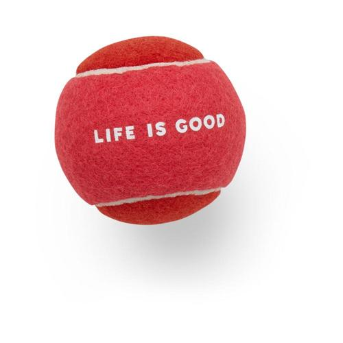 Life is Good Dog Tennis Ball Pop_pnk