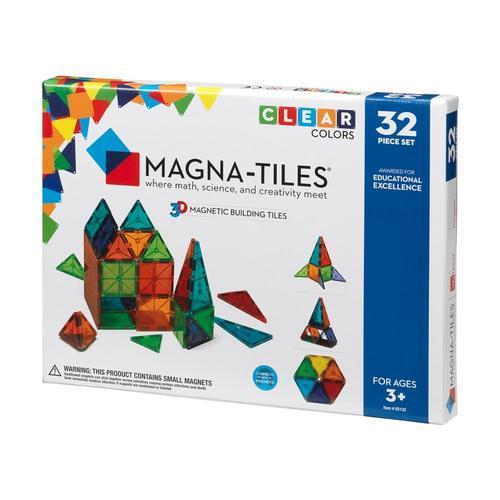 Magna-Tiles Clear Colors 32 Piece Set Cl_color