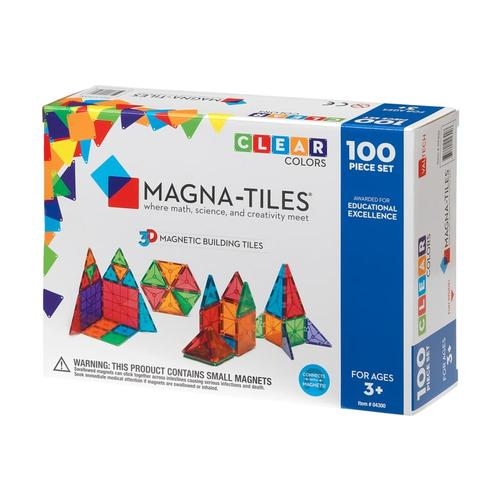 Magna-Tiles Clear Colors 100 Piece Set Cl_color