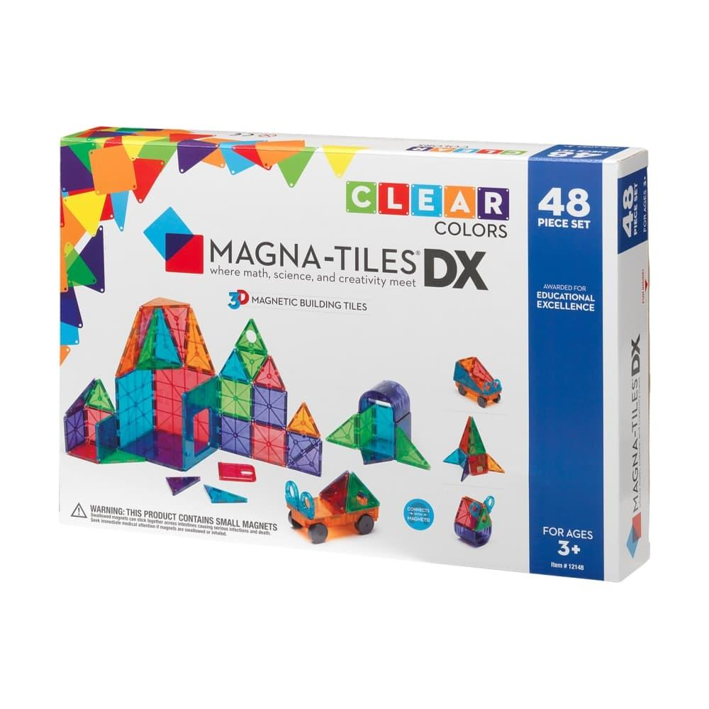 Magna- Tiles Clear Colors 48 Piece Deluxe Set