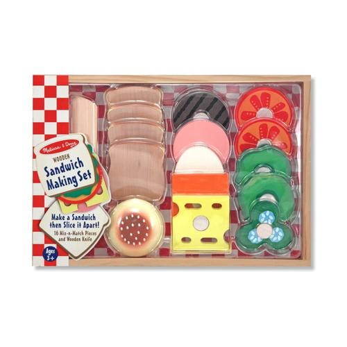 Melissa & Doug Sandwich Making Set - Wooden Play Food