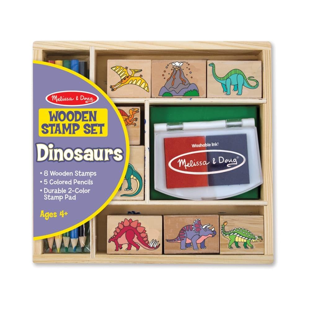 Melissa & Doug Wooden Stamp Set - Dinosaurs