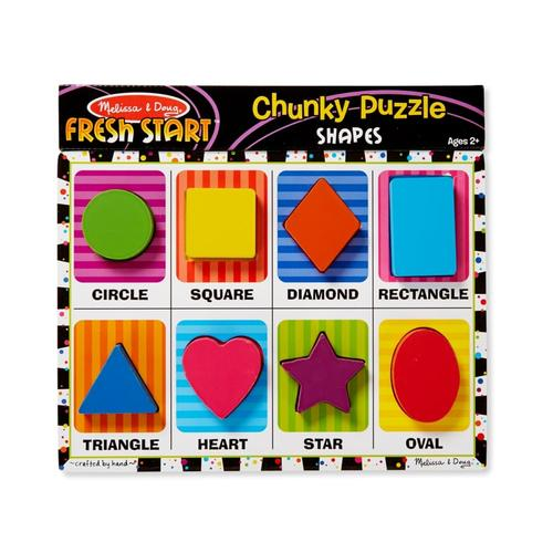Melissa & Doug Shapes Chunky Puzzle - 8 Pieces