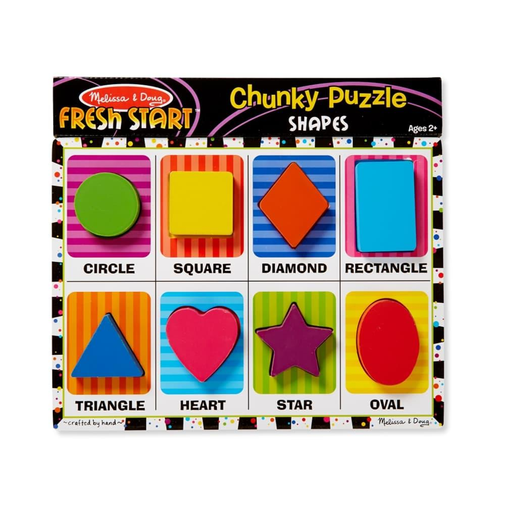 Melissa & Doug Shapes Chunky Puzzle - 8 Pieces SHAPES