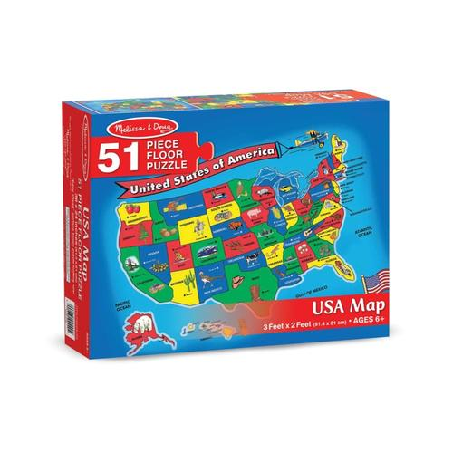 Melissa & Doug U.S.A. Map Floor Puzzle - 51 pieces