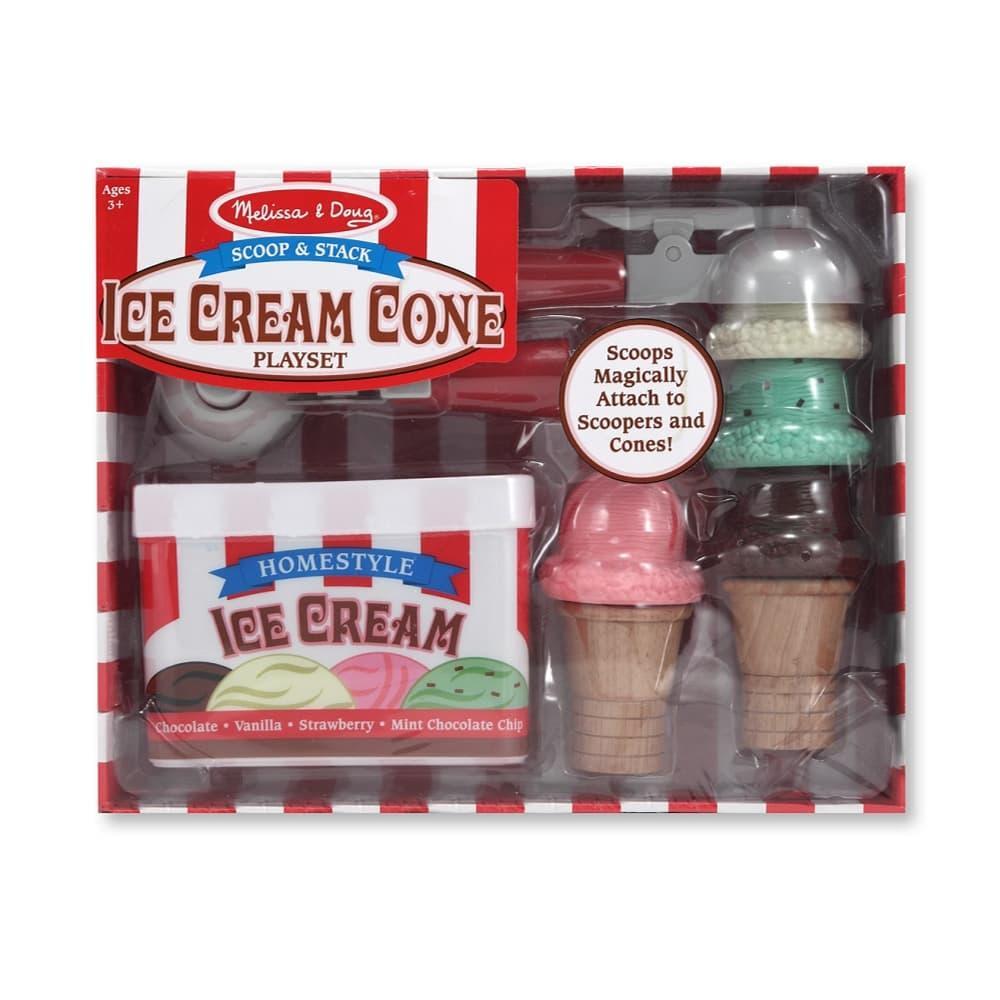 Melissa & Doug Scoop & Stack Ice Cream Cone Playset ICE_CREAM