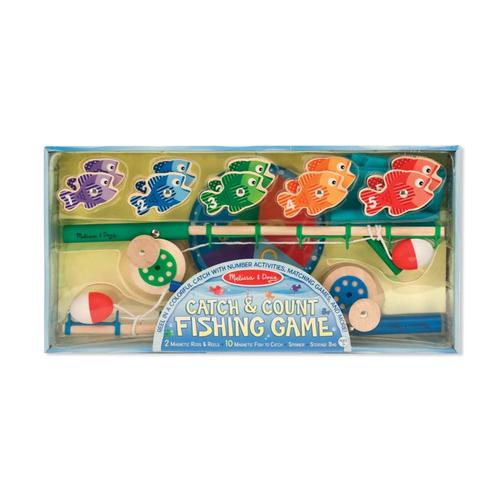Melissa & Doug Catch & Count Magnetic Fishing Rod Set .