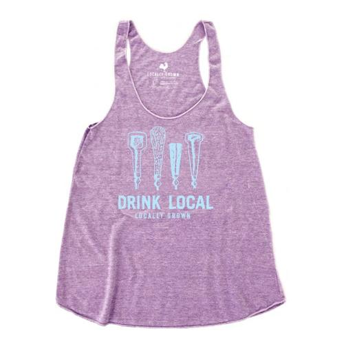 Locally Grown Women's Drink Local Beer Taps Tank VINPURPLE