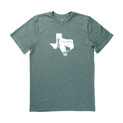 Locally Grown Unisex Texas State Scape Tee FOREST