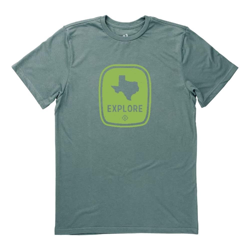 Locally Grown Unisex Explore Texas Tee FOREST