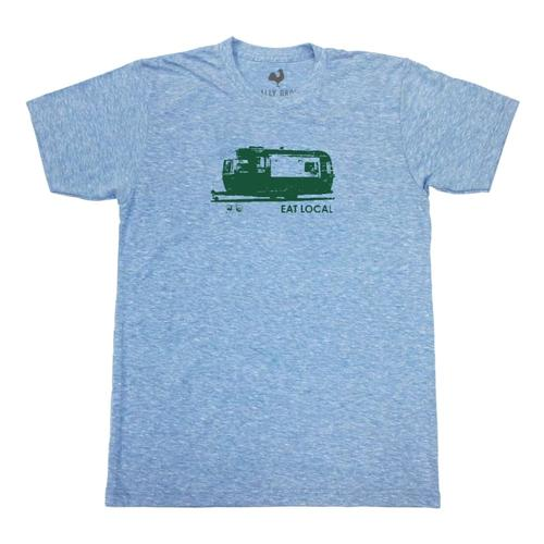 Locally Grown Unisex Eat Local Food Truck Tee HBLUE
