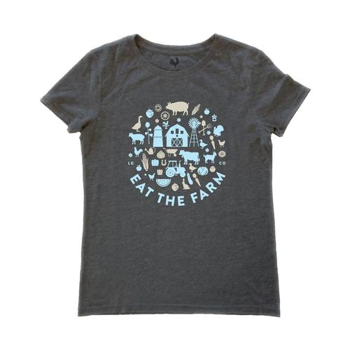 Locally Grown Women's Eat The Farm Tee HPHANTOM