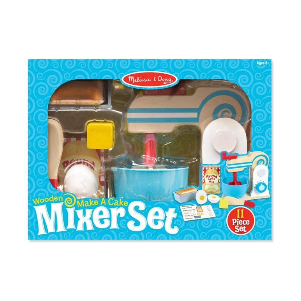 Melissa & Doug Wooden Make- A- Cake Mixer Set