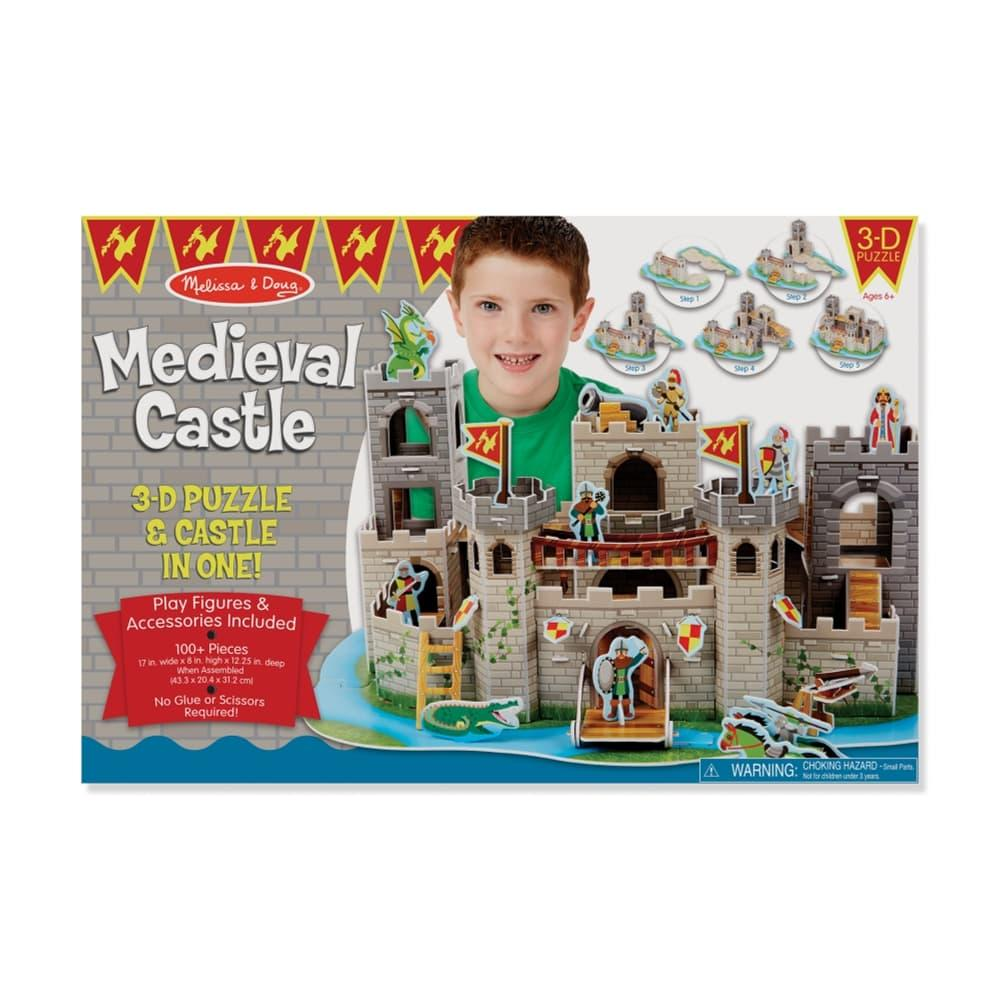 Melissa & Doug Medieval Castle 3d Puzzle And Play Set In One