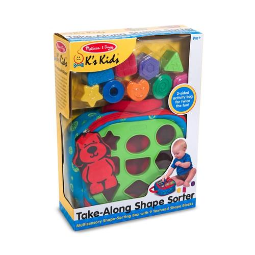 Melissa & Doug Take-Along Shape Sorter Baby and Toddler Toy