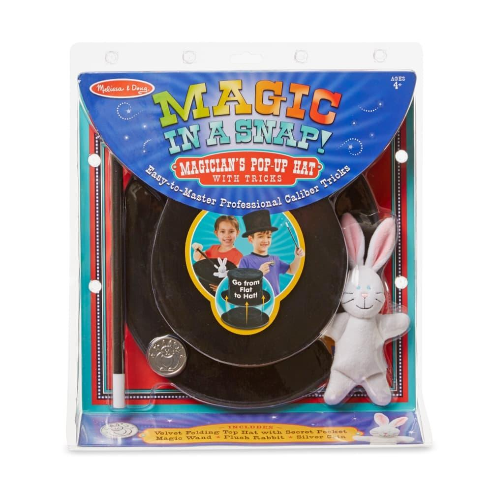 Melissa & Doug Magic In A Snap - Magician's Pop- Up Magical Hat With Tricks