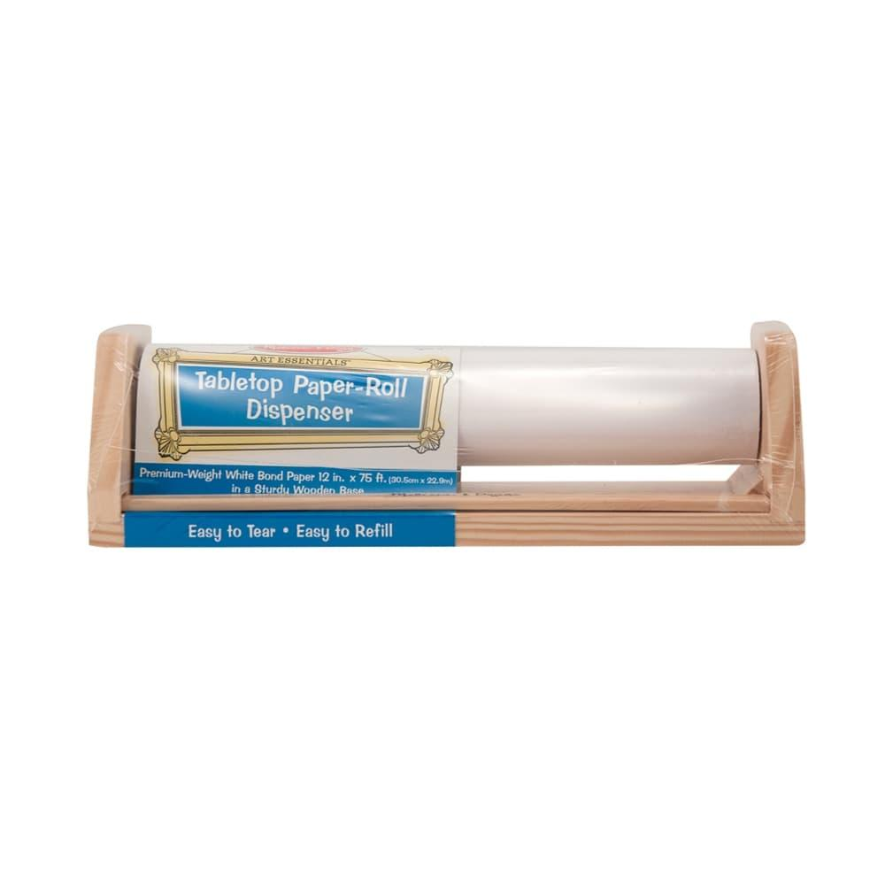 Melissa & Doug Wooden Tabletop Paper Roll Dispenser