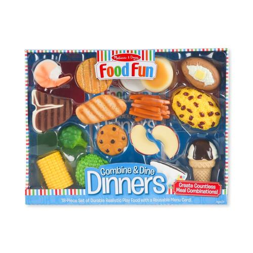 Melissa & Doug Combine And Dine Dinners - 18 Piece Set.