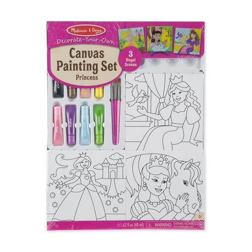 Melissa & Doug Decorate Your Own - Canvas Creations Painting Set - Princess