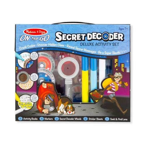 Melissa & Doug Secret Decoder Deluxe Activity Set - ON the GO