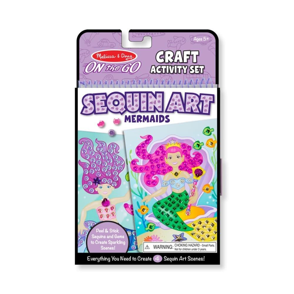 Melissa & Doug On- The- Go Crafts - Sequin Art - Mermaids