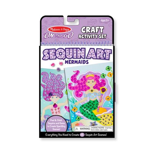 Melissa & Doug On-the-Go Crafts - Sequin Art - Mermaids