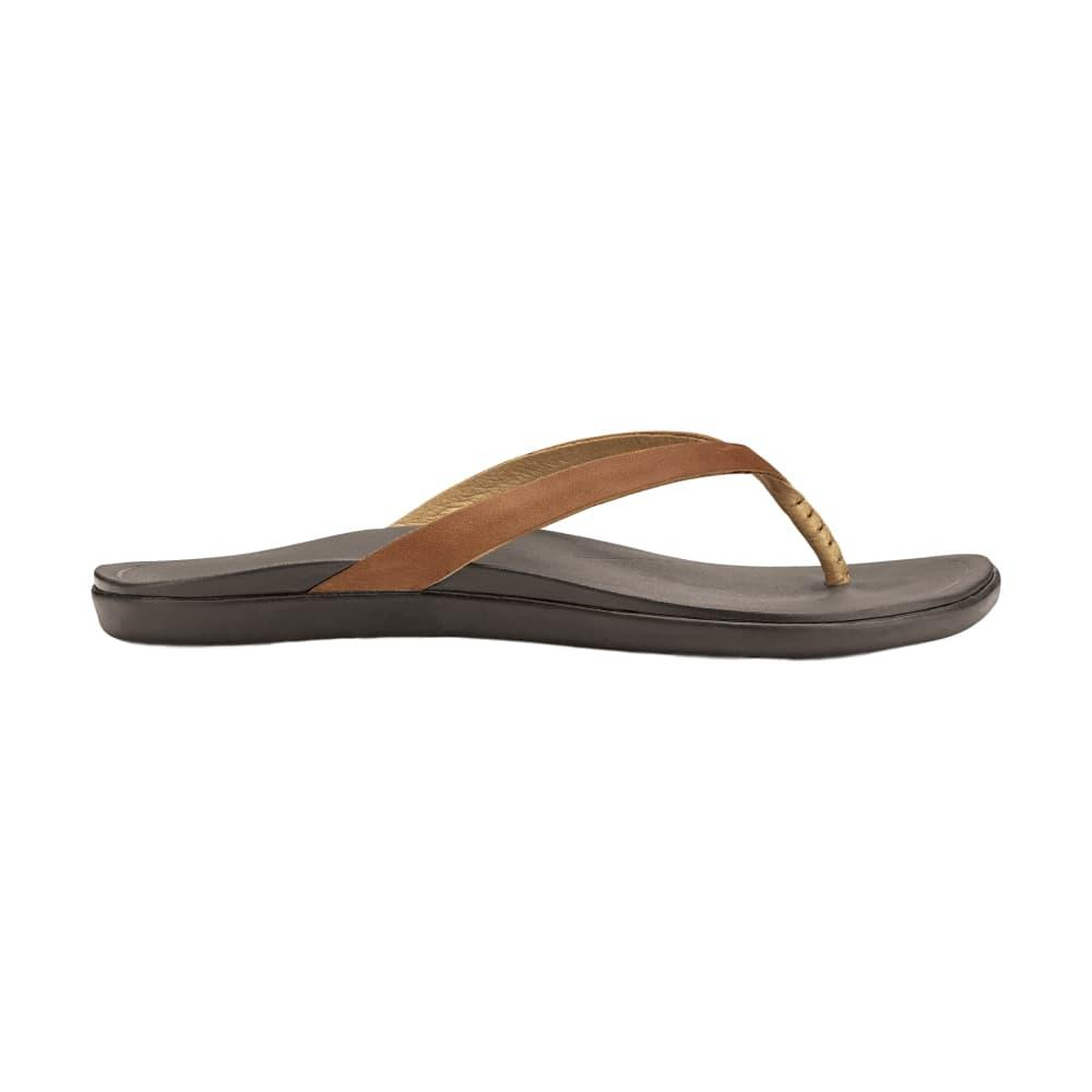 OluKai Women's Hoopio Leather Sandals SAHARA