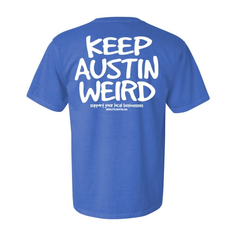 Outhouse Designs Unisex Keep Austin Weird Washed Cotton T- Shirt