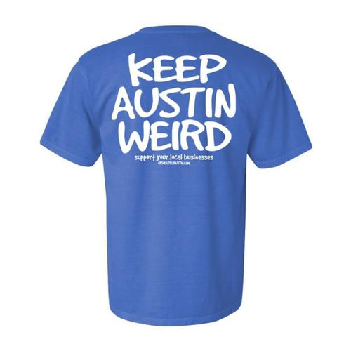 Outhouse Designs Unisex Keep Austin Weird Washed Cotton T-Shirt
