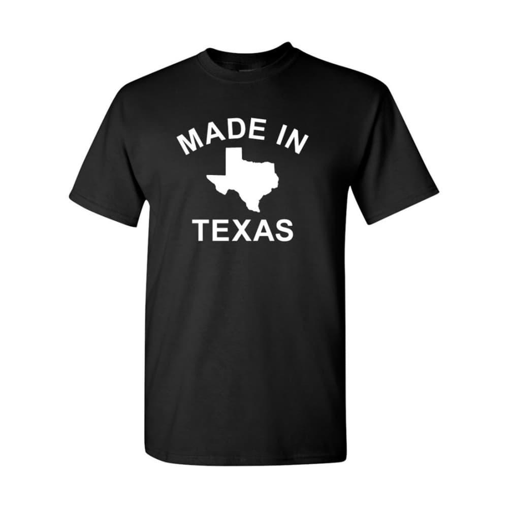 Outhouse Designs Men's Made in Texas T-Shirt BLACK