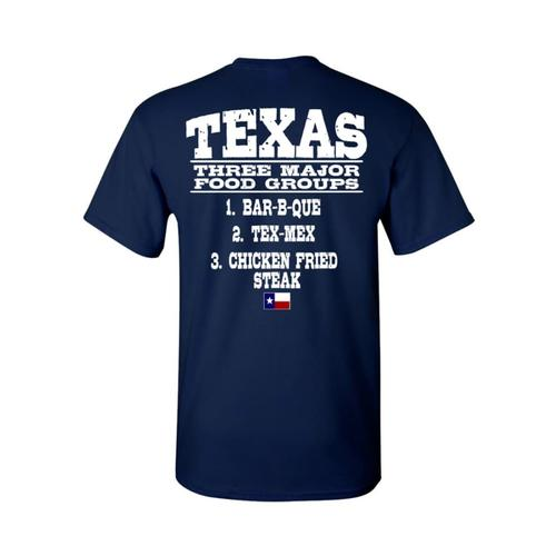 Outhouse Designs Men's Texas Food Groups T-Shirts