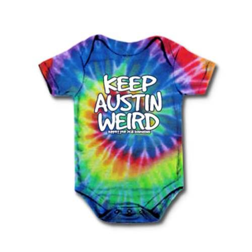 Outhouse Designs Infant Keep Austin Weird Tie Dye Onesie