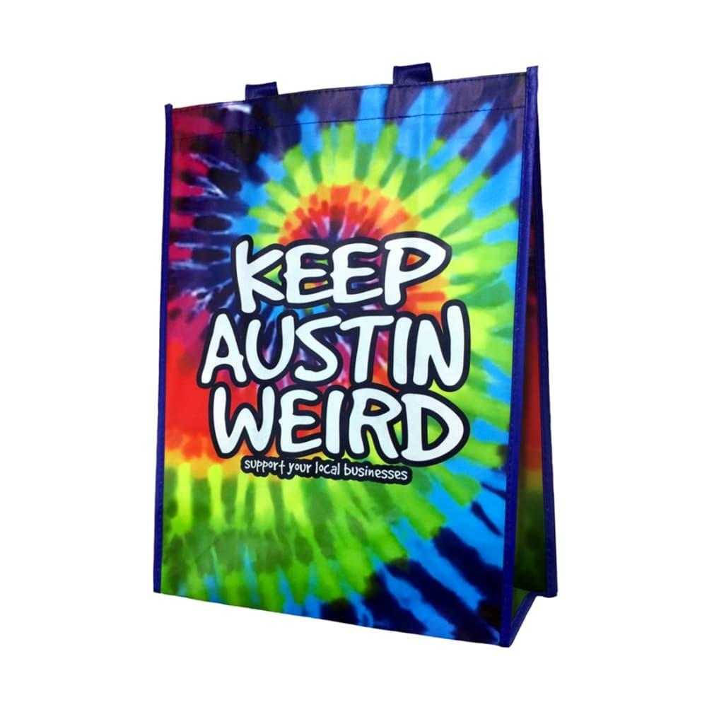 Outhouse Designs Keep Austin Weird Tie- Dye Tote Bag