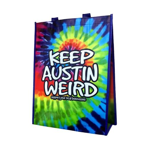 Outhouse Designs Keep Austin Weird Tie-Dye Tote Bag