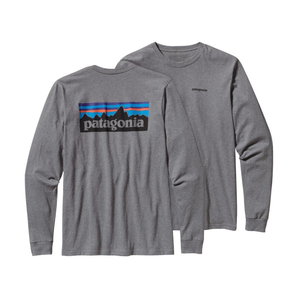 Patagonia Men's Long-Sleeved P-6 Logo Cotton T-Shirt GRAVEL_GLH