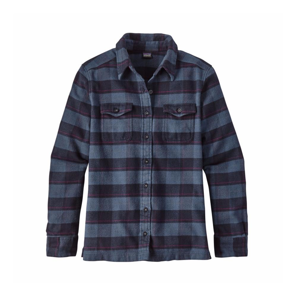 Patagonia Women's Long-Sleeved Fjord Flannel Shirt BXNV_BLUE