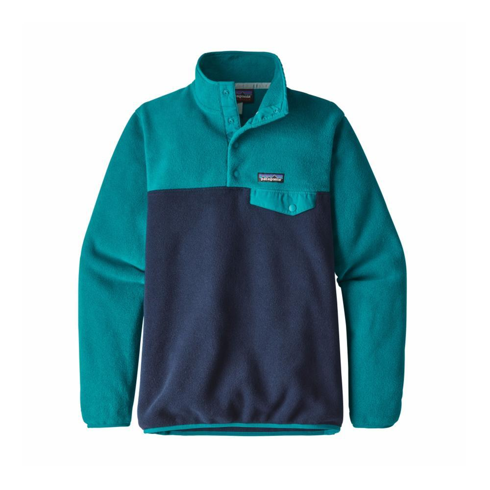 Patagonia Women's Lightweight Synchilla Snap-T Fleece Pullover ELWB_BLUE