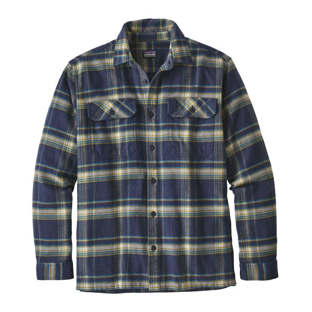 Patagonia Men's Long-Sleeved Fjord Flannel Shirt ACNB_BLUE