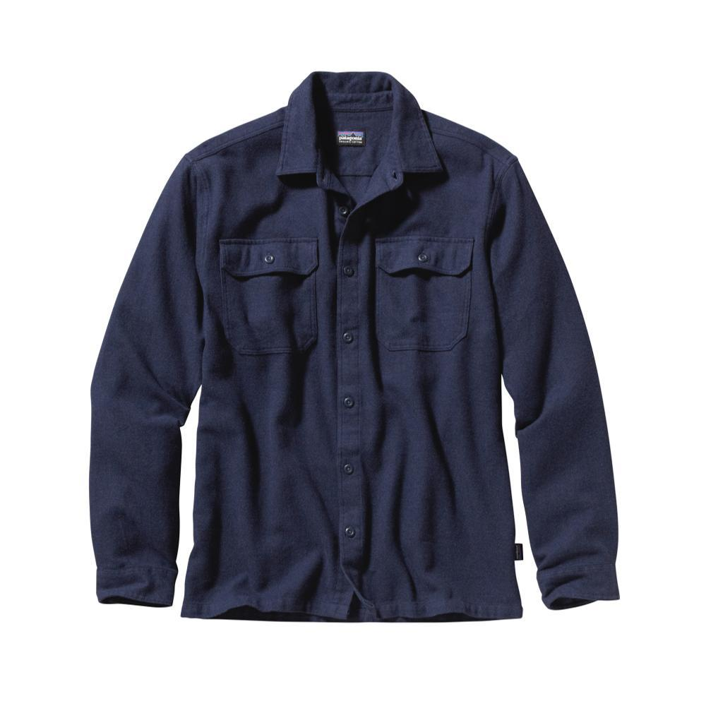 Patagonia Men's Long-Sleeved Fjord Flannel Shirt NVYB_BLUE