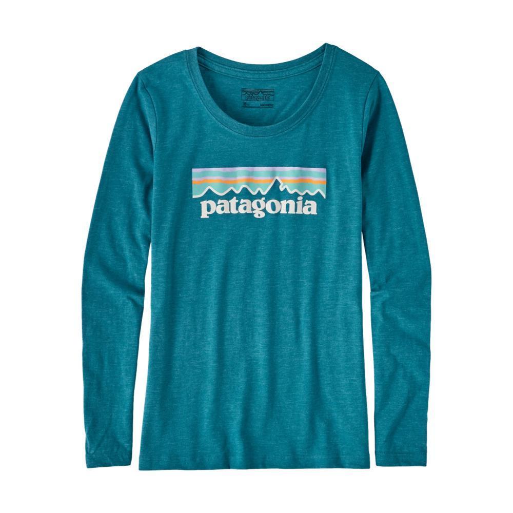 Patagonia Girls Long-Sleeved Pastel P-6 Logo Organic T-Shirt BLUEELWB