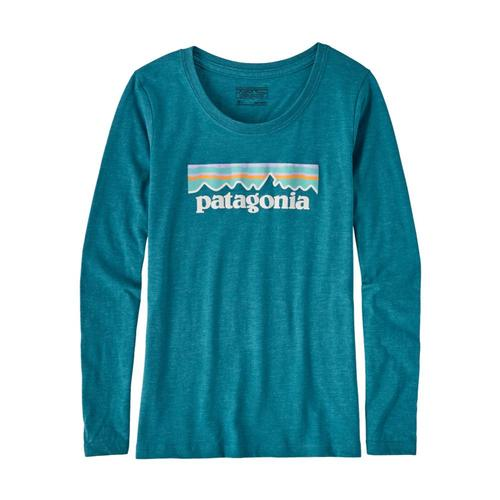 Patagonia Girls Long-Sleeved Pastel P-6 Logo Organic T-Shirt