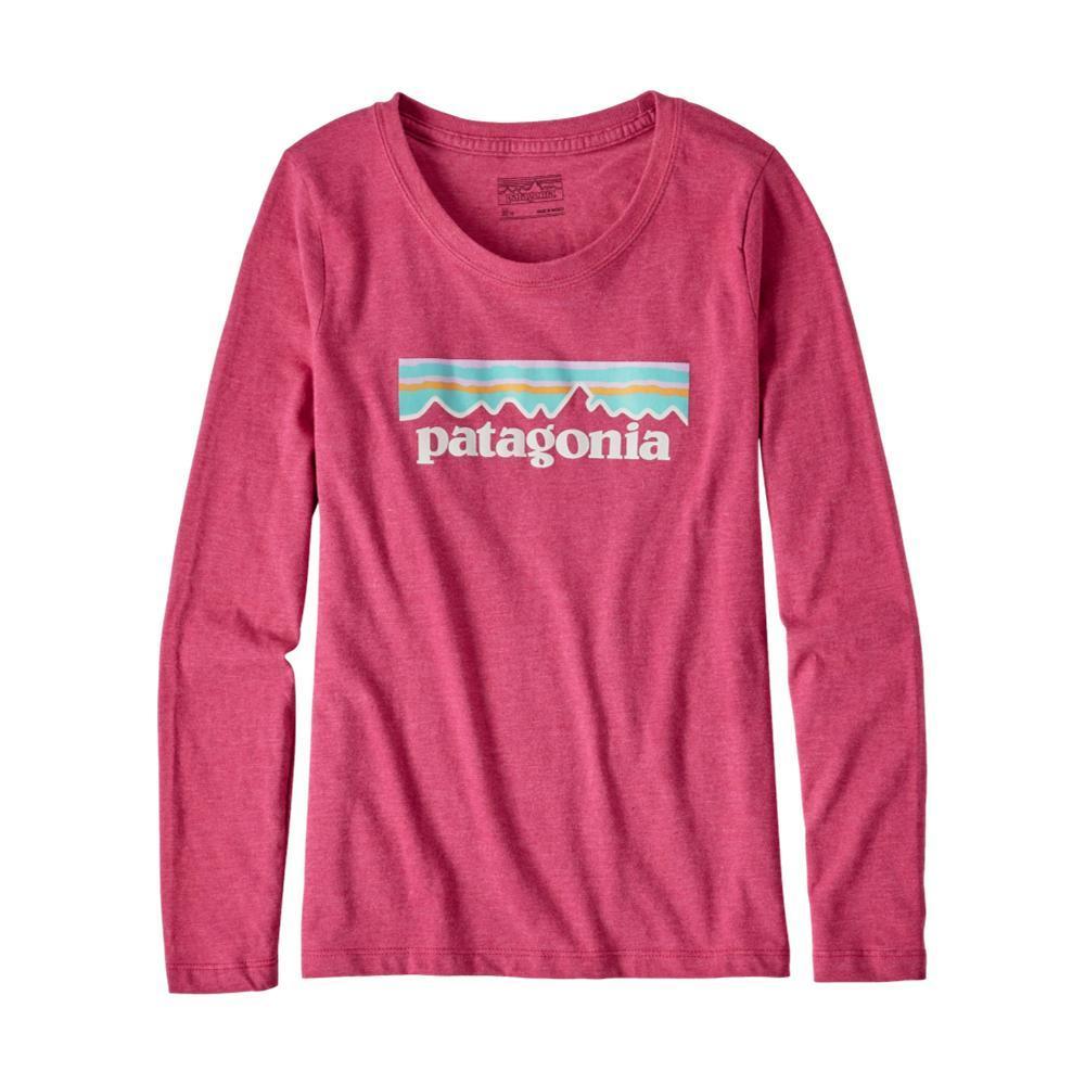 Patagonia Girls Long-Sleeved Pastel P-6 Logo Organic T-Shirt PINKCFTP