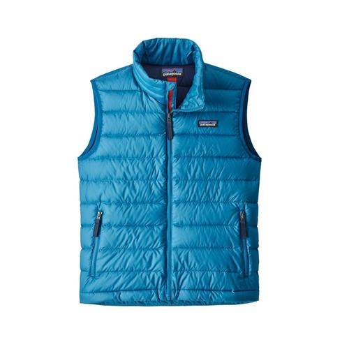 Patagonia Boys Down Sweater Vest Blue_balb